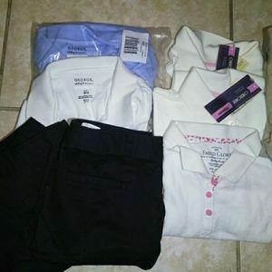 Girls uniform shirts